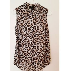 Tops - Cheetah Print High Low Top